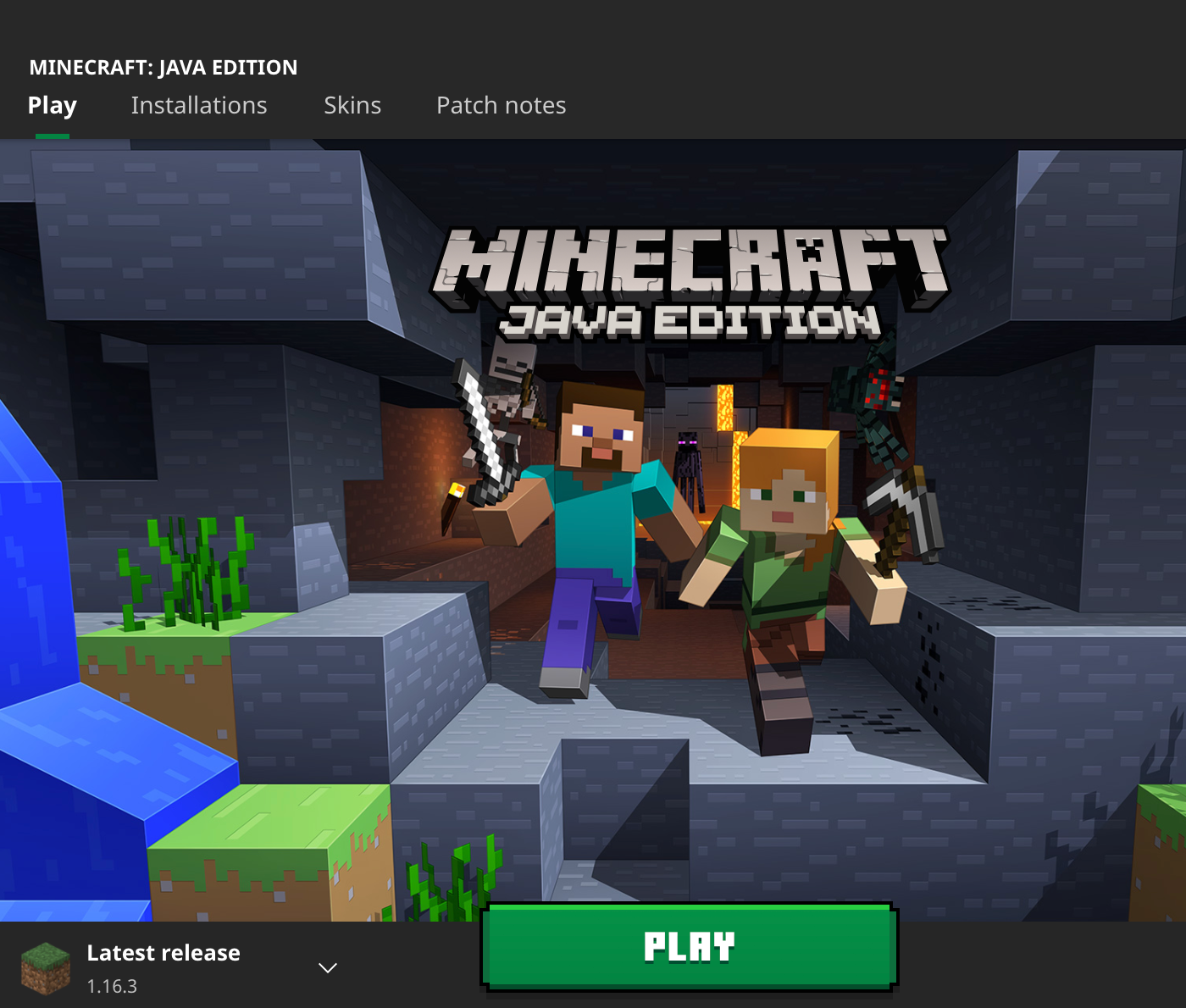 Minecraft version 1.16.3 install image 01